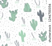 vector seamless pattern with... | Shutterstock .eps vector #1246700356