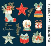 collection of christmas and new ... | Shutterstock .eps vector #1246708546
