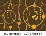 asymmetric golden print with...   Shutterstock .eps vector #1246708669