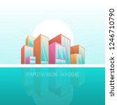perspective building background ... | Shutterstock .eps vector #1246710790