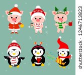 new year and christmas card. a... | Shutterstock .eps vector #1246713823