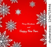 merry christmas and new year... | Shutterstock .eps vector #1246715446