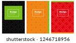 dark green  red vector brochure ...