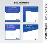 set cover template. information ... | Shutterstock .eps vector #1246724179