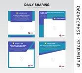 set cover template. information ... | Shutterstock .eps vector #1246724290