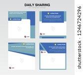 set cover template. information ... | Shutterstock .eps vector #1246724296