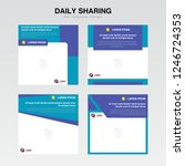 set cover template. information ... | Shutterstock .eps vector #1246724353