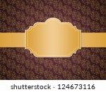 vintage styled pattern paper... | Shutterstock . vector #124673116