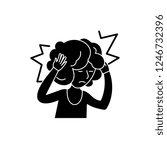 headache black icon  vector... | Shutterstock .eps vector #1246732396