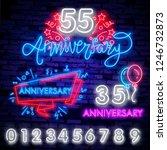anniversary lettering neon sign ... | Shutterstock .eps vector #1246732873