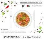jordan cuisine. middle east... | Shutterstock .eps vector #1246742110
