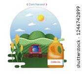 flat farm landscape... | Shutterstock .eps vector #1246742899