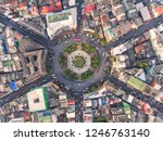 aerial view and top view of... | Shutterstock . vector #1246763140