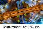 aerial view and top view of... | Shutterstock . vector #1246763146