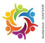 vector party people logo... | Shutterstock .eps vector #124676539