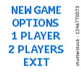 pixel art game menu options...