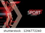 modern poster for sports. golf... | Shutterstock .eps vector #1246772260