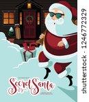 secret santa banner design with ... | Shutterstock .eps vector #1246772329