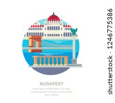 travel to hungary vector flat... | Shutterstock .eps vector #1246775386
