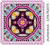 decorative colorful ornament on ... | Shutterstock .eps vector #1246782073