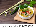 green curry  kaeng kheiyw hwan  ... | Shutterstock . vector #1246783336