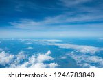 clouds seen from an airplane ... | Shutterstock . vector #1246783840