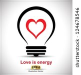 Love Is Energy Vector Concept ...