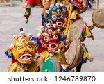 unidentified monks in masks...   Shutterstock . vector #1246789870
