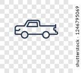 pickup icon. trendy pickup logo ... | Shutterstock .eps vector #1246795069