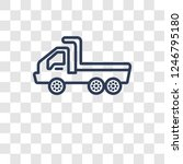 flatbed lorry icon. trendy... | Shutterstock .eps vector #1246795180