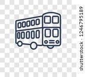 double decker bus icon. trendy... | Shutterstock .eps vector #1246795189