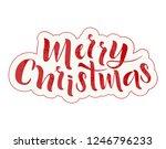 merry christmas handmade... | Shutterstock .eps vector #1246796233