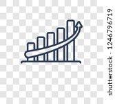 increase icon. trendy increase... | Shutterstock .eps vector #1246796719