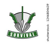 survive with adventurous... | Shutterstock .eps vector #1246804639