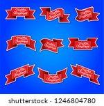 illustration of merry christmas ... | Shutterstock .eps vector #1246804780