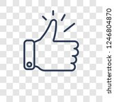 accept icon. trendy accept logo ... | Shutterstock .eps vector #1246804870