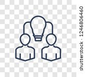 collaborative idea icon. trendy ... | Shutterstock .eps vector #1246806460