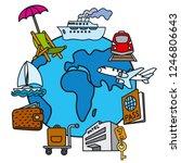 illustration of travel concept... | Shutterstock .eps vector #1246806643