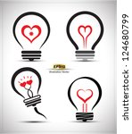 Vector Collection Bulb Heart  ...