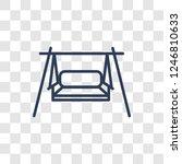 porch swing icon. trendy linear ... | Shutterstock .eps vector #1246810633