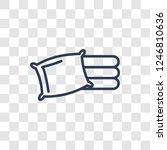 linens icon. trendy linear... | Shutterstock .eps vector #1246810636
