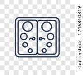 double door icon. trendy linear ... | Shutterstock .eps vector #1246810819