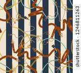 seamless striped pattern with... | Shutterstock .eps vector #1246811263