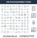 100 gym equipment universal... | Shutterstock .eps vector #1246814749