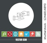 very useful vector line icon of ...   Shutterstock .eps vector #1246814893
