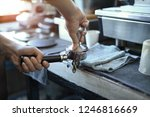 the process of making coffee... | Shutterstock . vector #1246816669