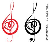 Heart Of Treble Clef And Bass...