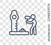 strength tester icon. trendy... | Shutterstock .eps vector #1246819576