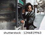 a curly asian guy in fancy... | Shutterstock . vector #1246819963