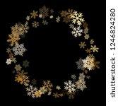 winter snowflakes border cool... | Shutterstock .eps vector #1246824280